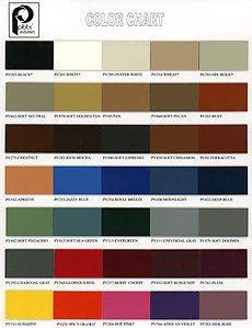 Pibbs Upholstery Color Chart
