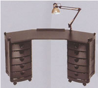 Pibbs Zorro Angled Top Manicure Table 19-2008