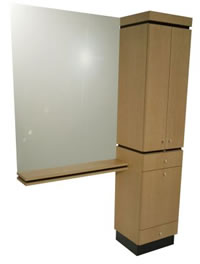 Wall Mounted Salon Styling Stations: 01-4406-54