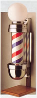 Barber Poles: 42-BP410OS-LIGHT