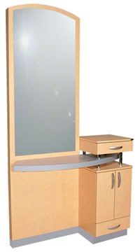 Wall Mounted Salon Styling Stations: 01-801-48