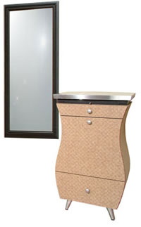 Wall Mounted Salon Styling Stations: 01-864-24