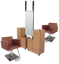 Double Salon Styling Stations: 01-939-66