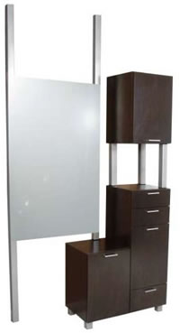 Wall Mounted Salon Styling Stations: 01-940-48