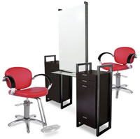Double Salon Styling Stations: 01-964-66