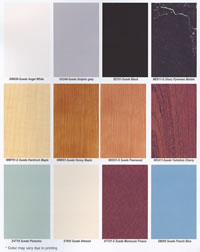 Pibbs Laminate Color Chart