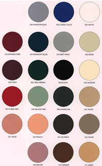 25-Marble Products Solid Color Chart