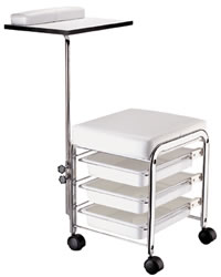 YCC Products Manicure Stool/Utility Cart 30-H2700