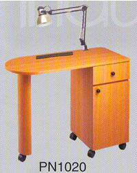 Pibbs Laminated Straight Top Nail Center Manicure Table 19-PN1020
