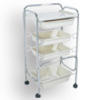 Plastic Salon Cart: 15-T119C